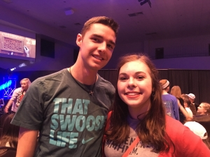 Cassie Allred and Garrett Houston, University of Mary Hardin-Baylor students going on mission trip to England, May 2017